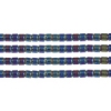 Delica 15/0 Rd Black Aurora Borealis